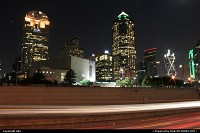 Night view of downtown dallas
