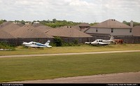 Planes & homes surround Sycamore Airport just south of Fort Worth. Photographed from Amtrak's Texas Eagle