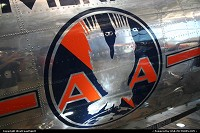 Vintage American Airlines logo on this beautiful Douglas DC-3 at the C.R. museum