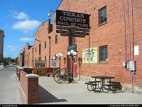 The main building of the stockyards historic district, home of the Cowboy Hall of fame