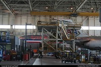 American Airlines Narrow body maintenance hangar in DFW
