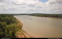 Texas, Crossing over the Brazos River in Central Texas while onboard Amtrak's Texas Eagle.