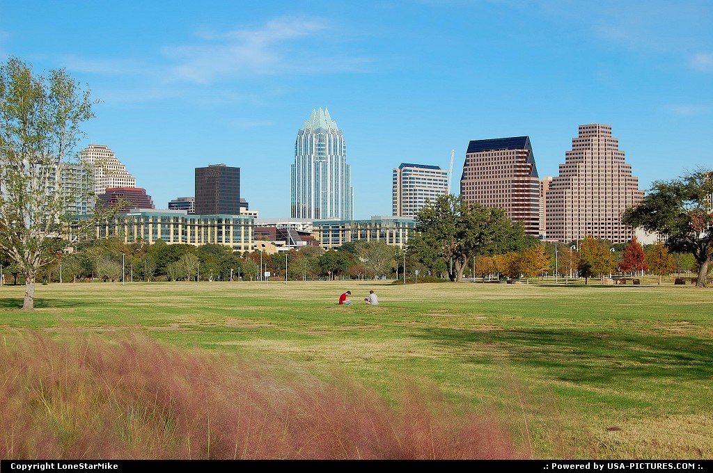 Picture by LoneStarMike: Austin Texas   downtown, skyscraper, skyline, park
