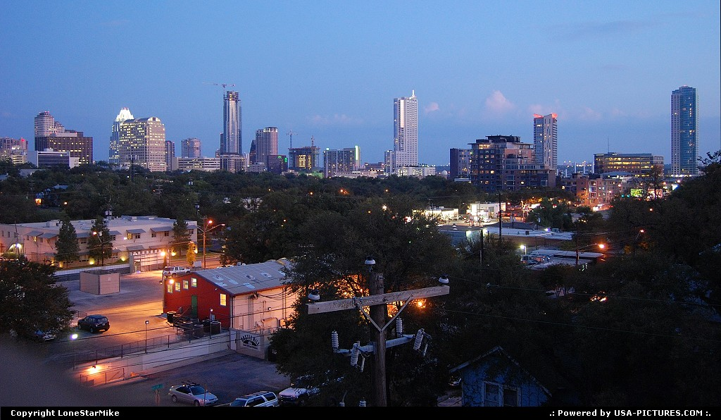 Picture by LoneStarMike: Austin Texas   downtown, skyline, skyscraper