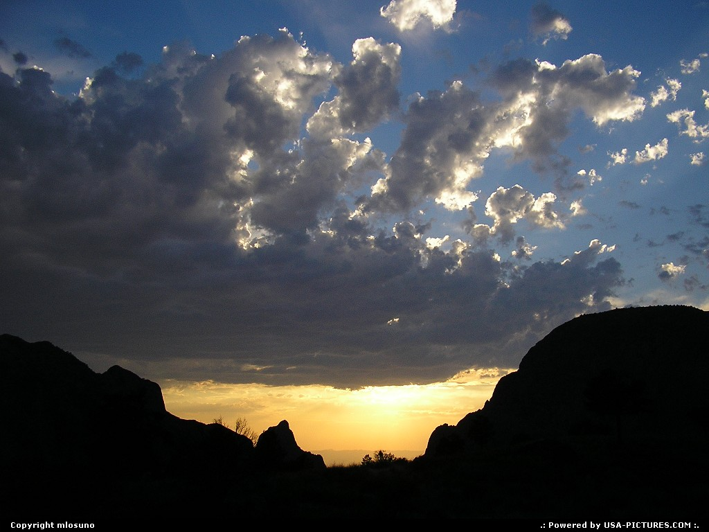 Picture by mlosuno:  Texas Big Bend  view window big bend sunset clouds