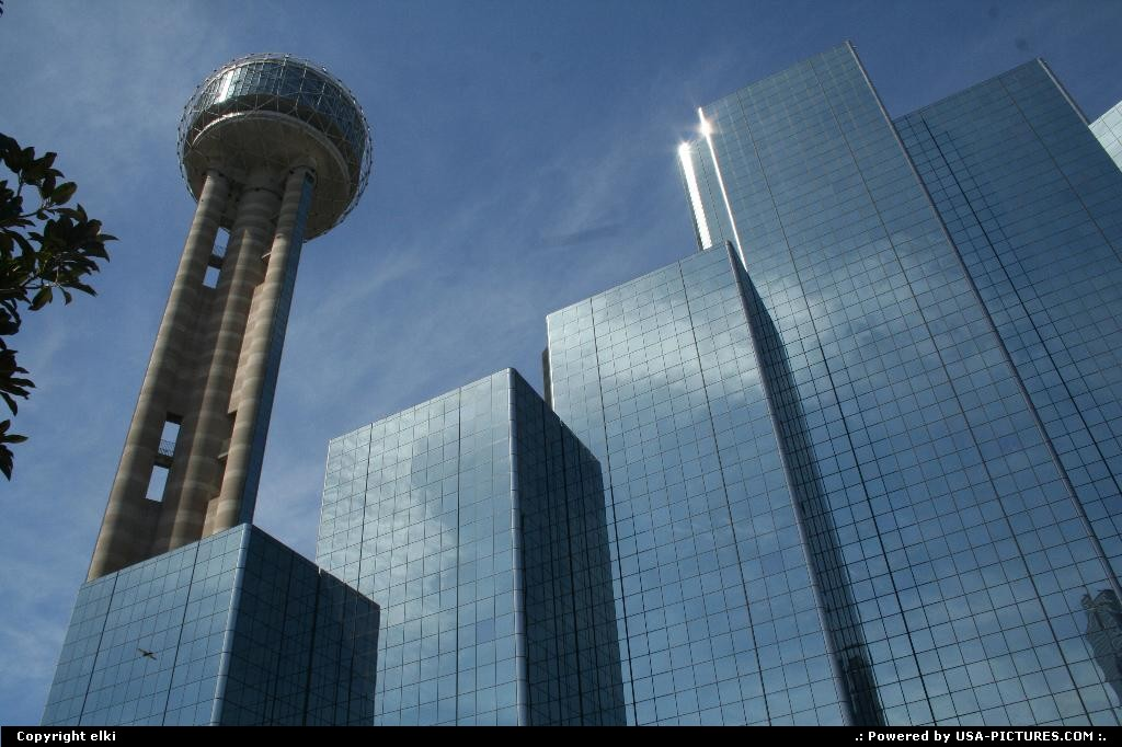 Picture by elki: Dallas Texas   reunion tower hyatt