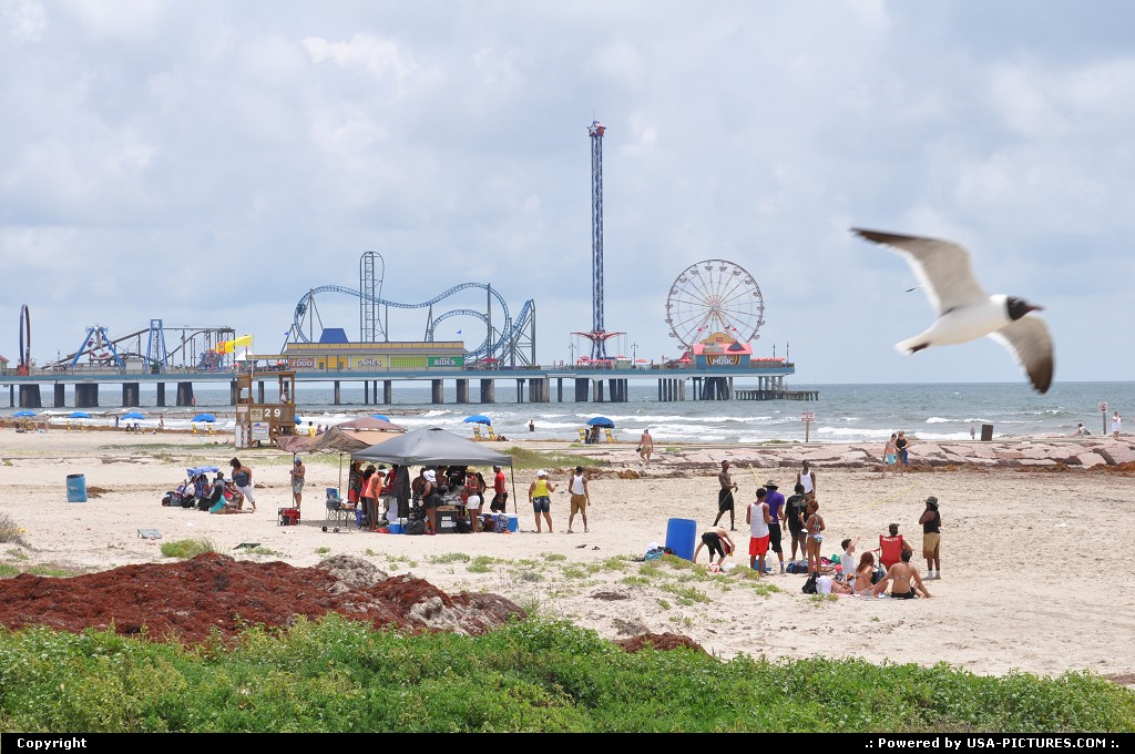 Picture by elki: Galveston Texas   Galveston boardwalk