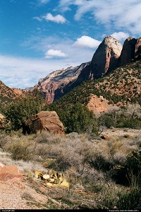 Photo by elki |  Zion rock, trail, hike, hiking