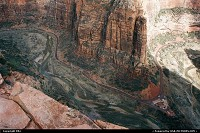 Photo by elki |  Zion hike, extreme hike, vertigo