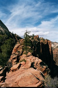 The Angels Landing trail