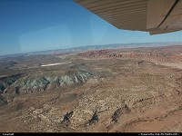Arches : Arches National Park from above, during our