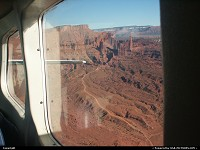 Utah, Arches National Park from above, during our