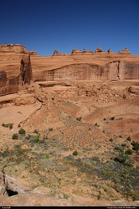 On the way to Delicate Arch overlook...