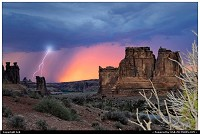 Photo by Jeb |  Arches Ligthning storm