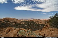 Beautiful landscape of Arches National Park.