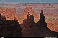Canyonlands, , UT, Sunset over Canyon Lands NP, Utah.