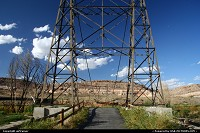 Hors de la ville : Historic Dewey Bridge, over the Colorado river on the Scenic Byway 128. This bridge was built in 1916 and restored in 2000, then sadly consumed by fire in 2008...