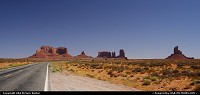 Around Monument Valley, on the road 163.