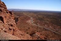 Overview of the road 261 from the Mocky Dugway.