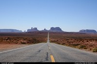 Photo by airtrainer | Not in a City  monument valley, road
