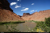 The Colorado River along the Scenic Byway 128 from Moab.