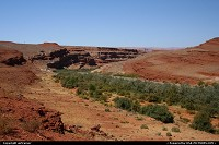 The valley of the San Juan river, around Mexican Hat.