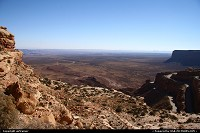 Not in a City : The Mocky Dugway. Looking at the road 261 to / from Monument Valley