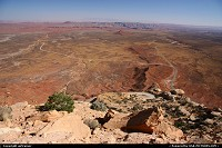 Enjoying the amazing view from the Mocky Dugway. The road on the left is the unpaved road to Valley of the Gods.