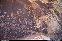 Newspaper Rock, on the way to The Needles / Canyonlands National Park.