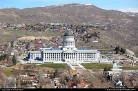Utah State Capitol from the 26th floor observation deck of the LDS Church Office Building
