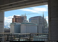 View of downtown Salt Lake City from the LDS Conference Center