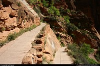 Zion national park: Zion National Park. A close-up of the Agels Landing trail.