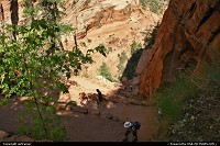 Zion National Park. Getting higher on Angels Landing trail...