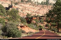 Colors of Zion. The asphalt is intentionally red to match with the surrounding colors...
