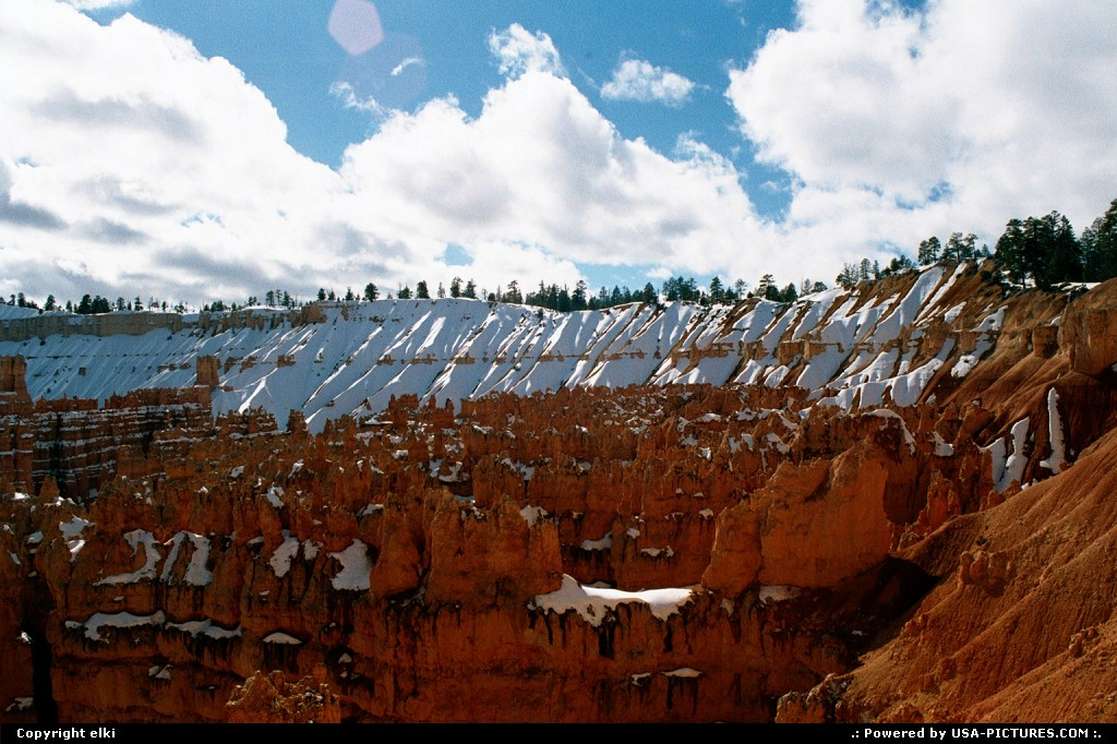 Picture by elki:UtahBryce Canyoncanyon, snow