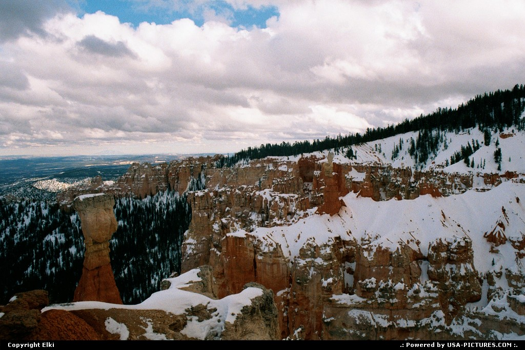 Picture by elki:UtahBryce Canyonsnow