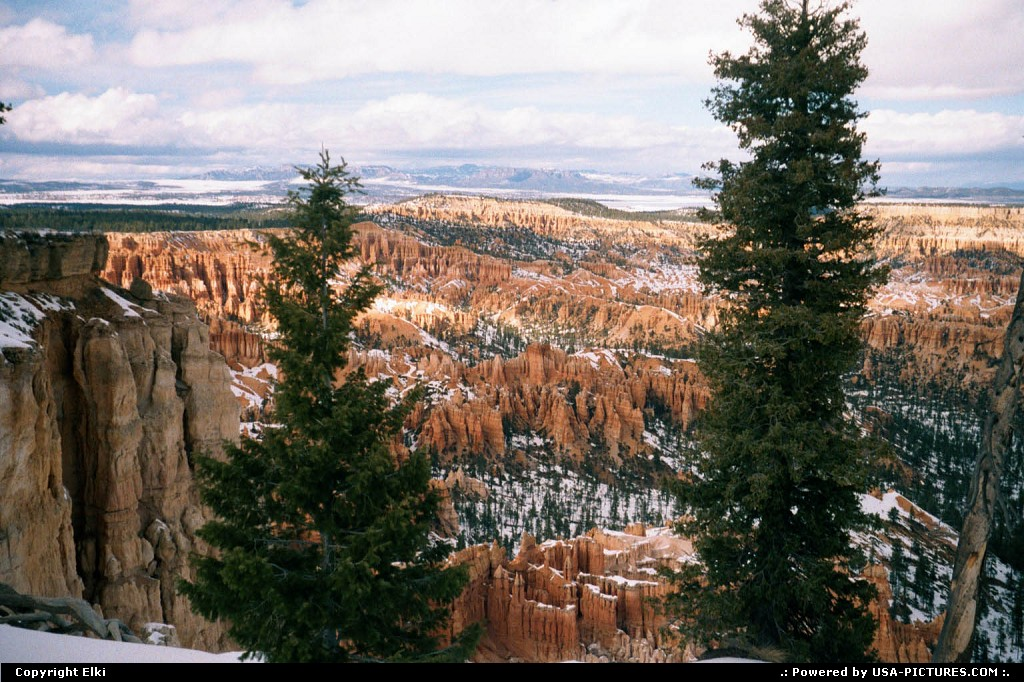 Picture by elki:  Utah Bryce Canyon  snow