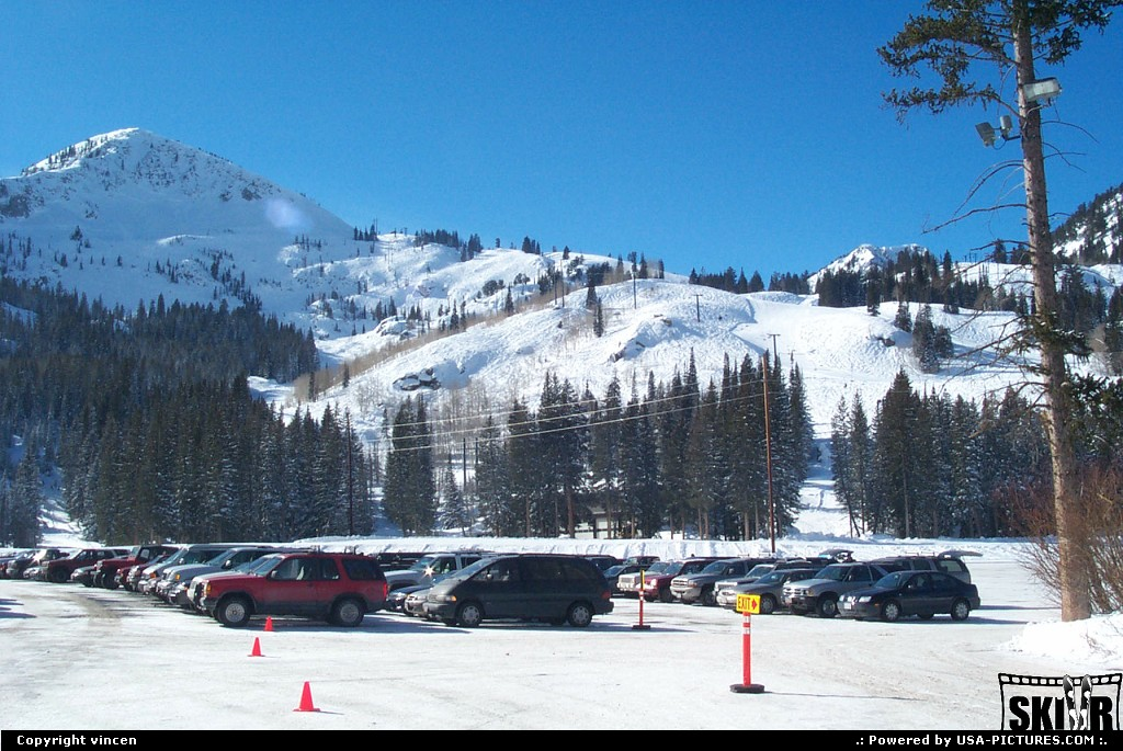 Picture by vincen: Brighton Utah   chairlift ski snow milicent evergreen parking brighton