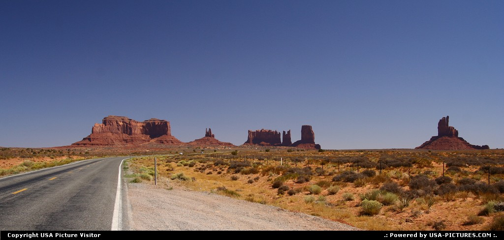 Picture by USA Picture Visitor: Not in a City Utah   monument valley, road
