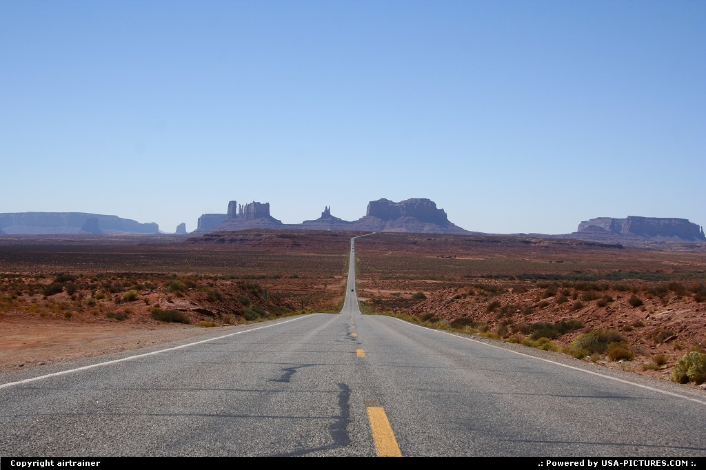 Picture by airtrainer: Not in a City Utah   monument valley, road