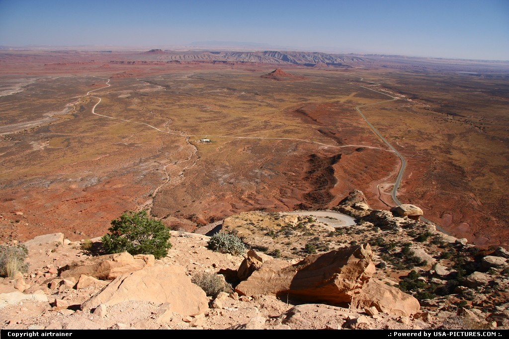 Picture by airtrainer: Not in a City Utah   mocky dugway, valley of the gods, road