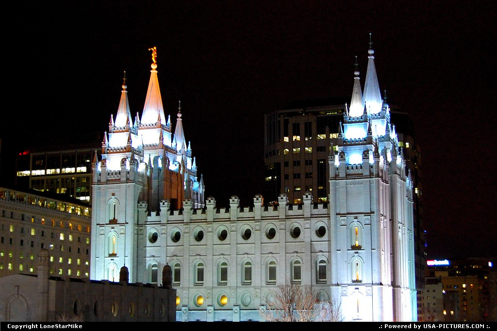 Picture by LoneStarMike: Salt Lake City Utah   downtown, temple