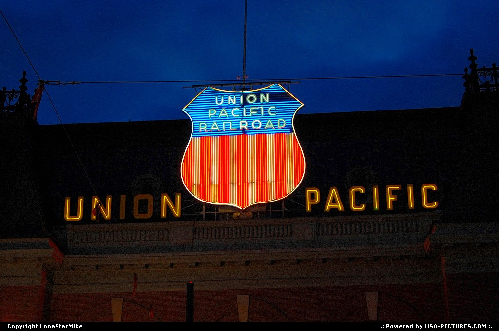 Picture by LoneStarMike: Salt Lake City Utah   depot, neon