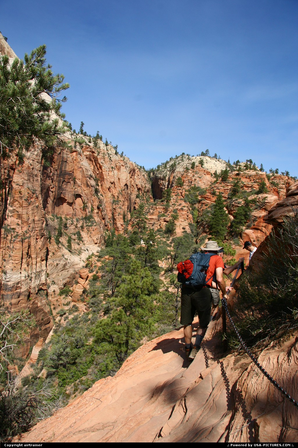 Picture by airtrainer:  Utah Zion  zion, angels landing