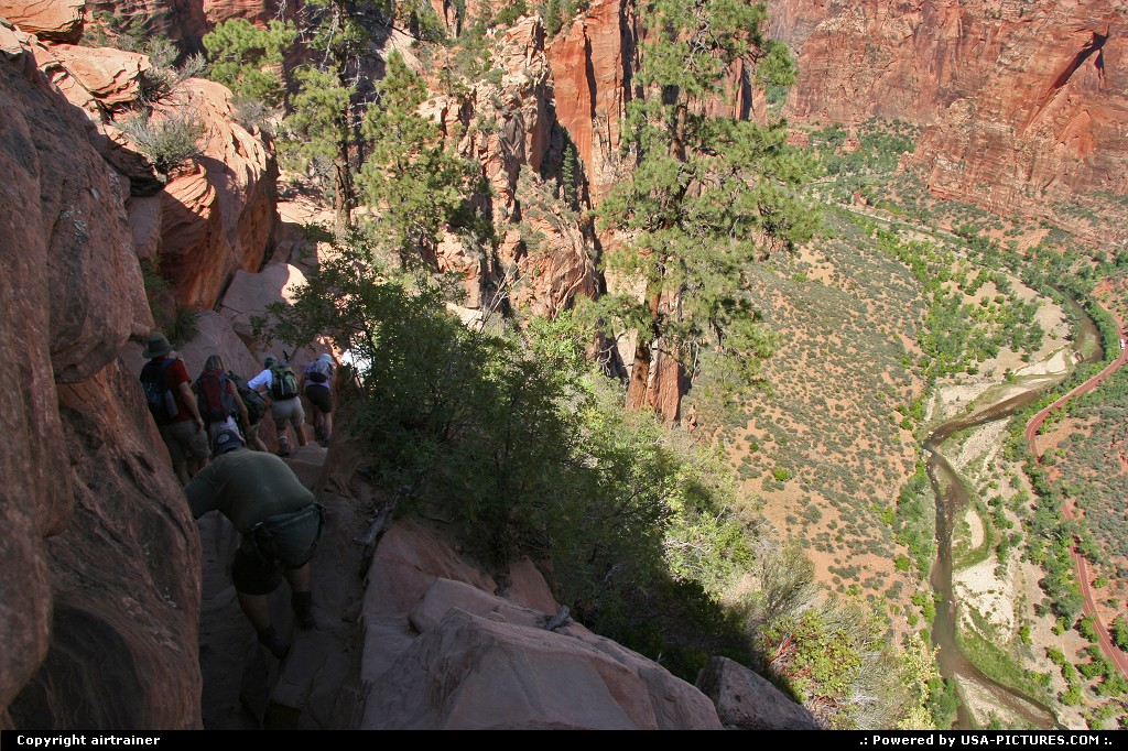 Picture by airtrainer:  Utah Zion Angels Landing zion, angels landing, virgin river