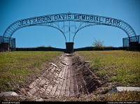 Jefferson Davis Memorial Park, Fort Monroe, Virginia.
