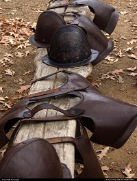 Photo by McMaggie | Jamestown  living history, museum, armor, James Fort, Jamestown, Jamestown Settlement, Historic Triangle, Virginia, Williamsburg, Colonial Parkway