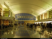 Lobby,Richmond International Airport, Richmond, Sandston, Virginia.