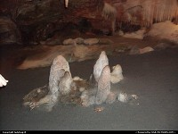 Then as we went further into Shenandoah Caverns we came upon a family looking ready to have their meal. We didn't disturb them. We just went on by and continued on our way through the cavern.