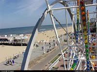 Virginia, View of Fishing Pier, beach, boardwalk from Ferris wheel, 17th Street & Atlantic, Virginia Beach, Virginia.